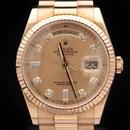 로렉스 골드 다이아 시계 (118238)