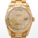 로렉스 다이아 골드 시계 (118238)