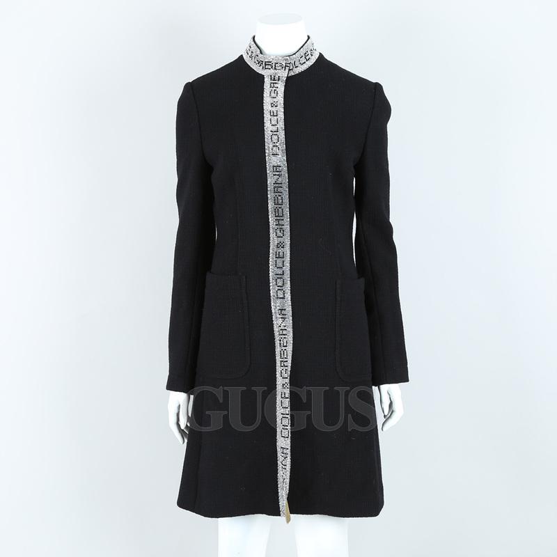 돌체앤가바나 블랙 큐빅 코트