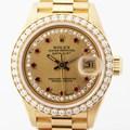 롤렉스 69138 다이아베젤 옐로골드18K 여성시계