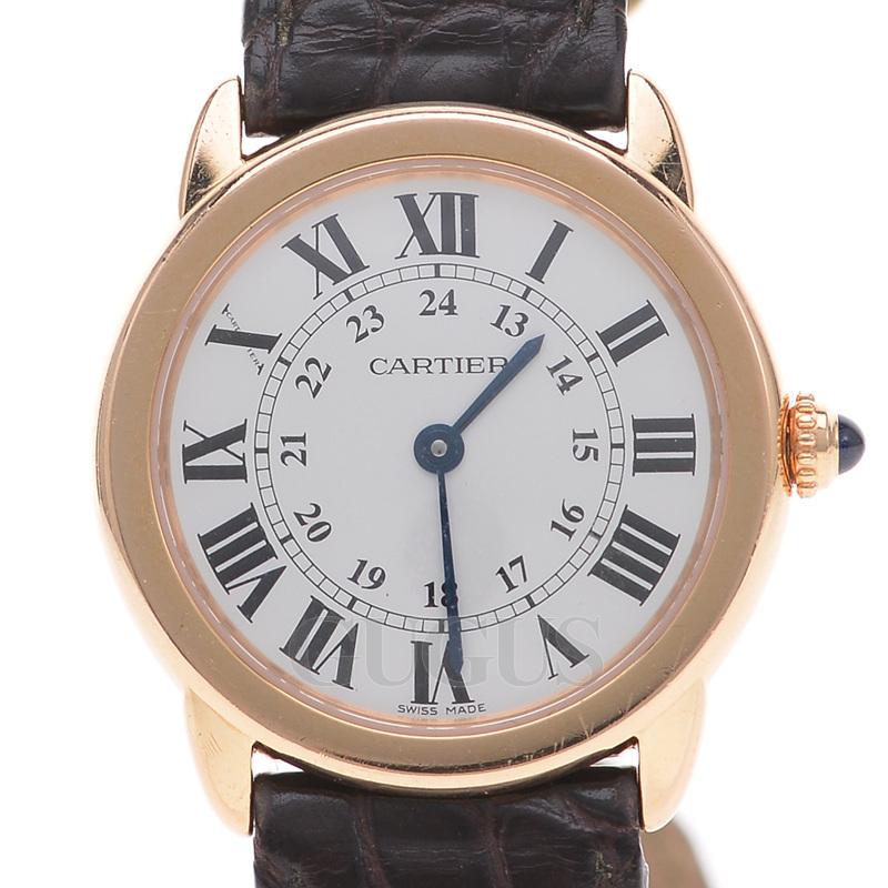 까르띠에 롱드 골드 시계