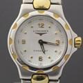 론진 콘퀘스트 쿼츠 투톤 스틸 여성용 시계