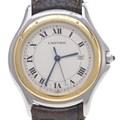까르띠에 원형산토스 콤비 시계