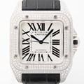 Cartier 까르띠에 산토스100 다이아베젤 시계