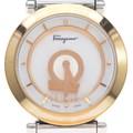 페레가모 금장 도금 콤비 시계
