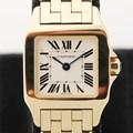 까르띠에 산토스 드모아젤 옐로골드18K 시계