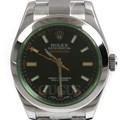 로렉스 밀가우스 스틸 시계 (116400GV)