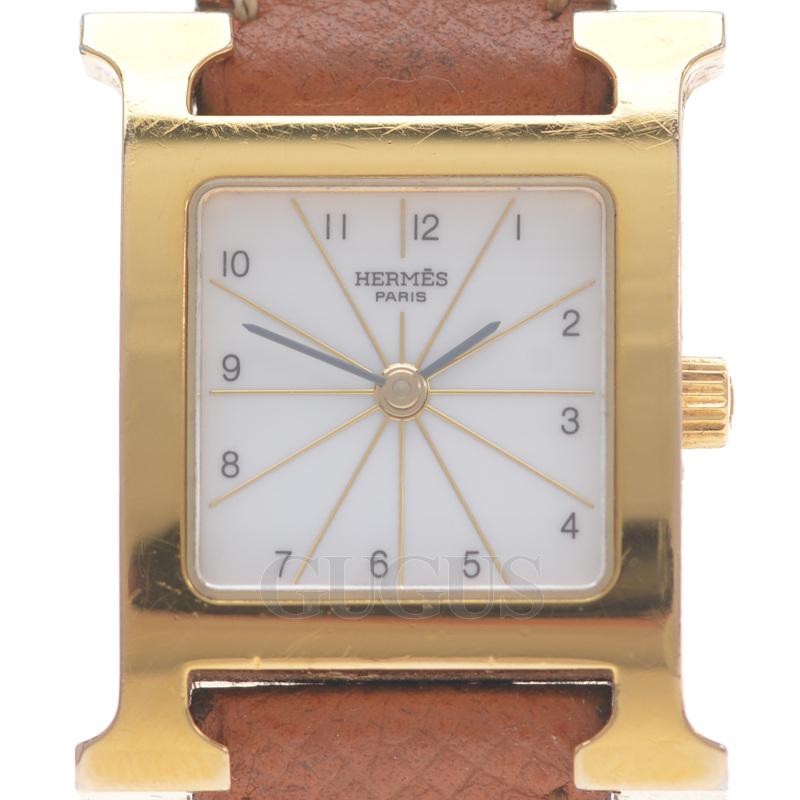 에르메스 H아워 금장도금 시계(HH1.201)