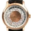 바쉐론 콘스탄틴 트래디셔널 월드타임 골드 시계