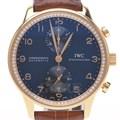 IWC 포르투기스 크로노 다이아 골드 시계