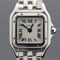 까르띠에 팬더 미니 쿼츠 스틸 여성용 시계