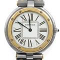 까르띠에 원형 산토스 콤비 시계