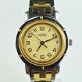 에르메스 클리퍼 금장 콤비 쿼츠 시계 CL3.240