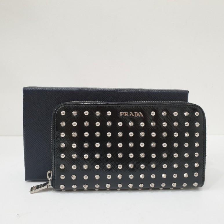 프라다 1m0506 사피아노 베르닉 장지갑