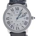 까르띠에 롱드 스틸 시계 (XL)