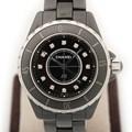 샤넬 J12 다이아12P 블랙세라믹33mm시계
