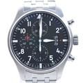 IWC 파일럿 크로노 스틸 시계
